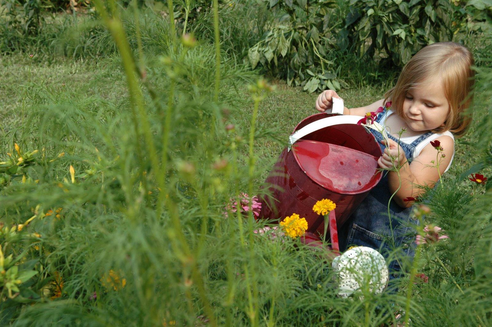 Garden chick in my garden gardening with kids for Gardening with children