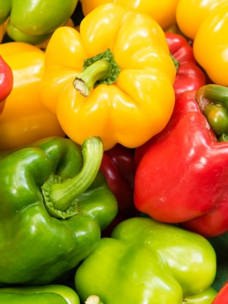 Bell peppers come in a range of colors and are a great choice for your pizza garden