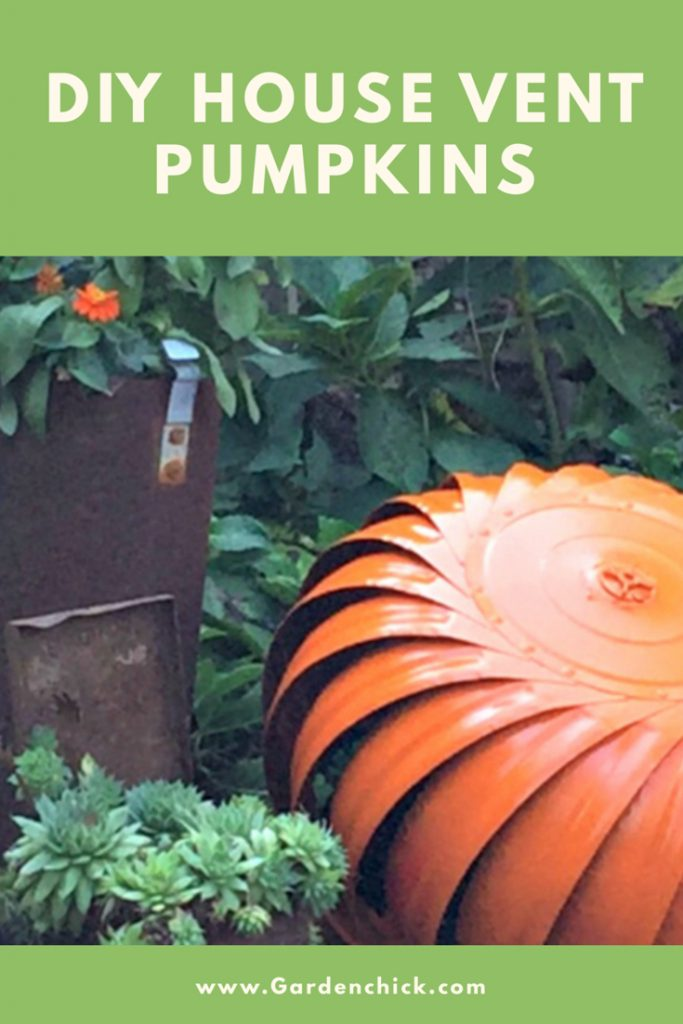Old house vents remind me of pumpkins. Creating a DIY House Vent Pumpkin was easy with a few coats of paint, a wine cork, and a little sphagnum moss