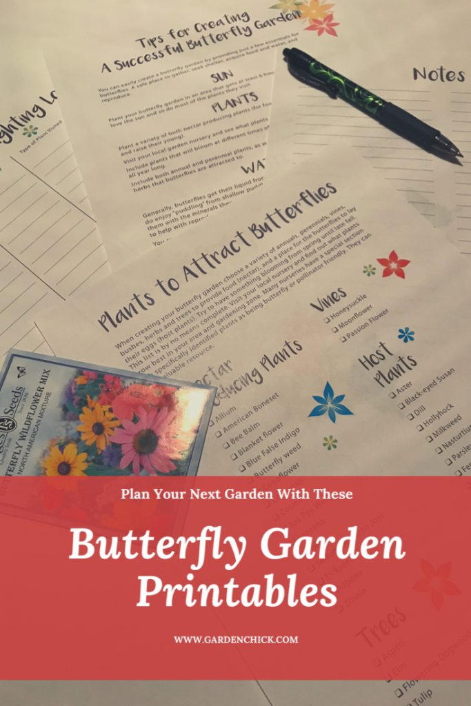 Butterfly printables to help you create your butterfly garden