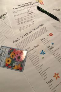 Plan your butterfly garden with these pretty printables