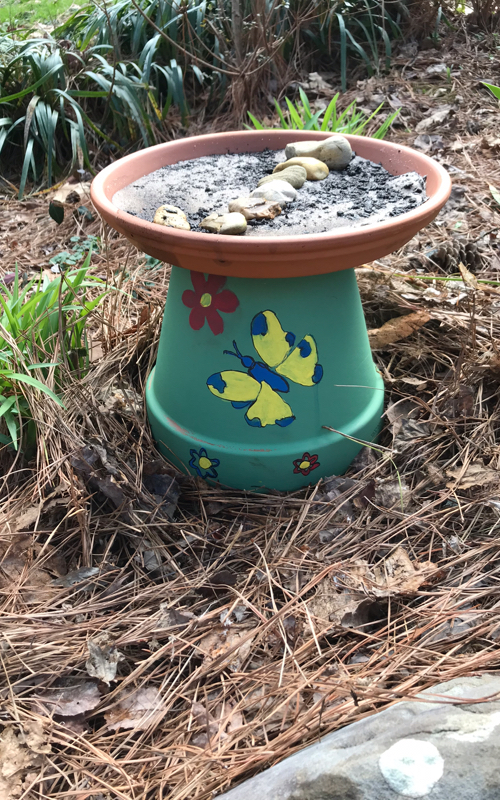 Make your own butterfly puddler with a terracotta pot and saucer